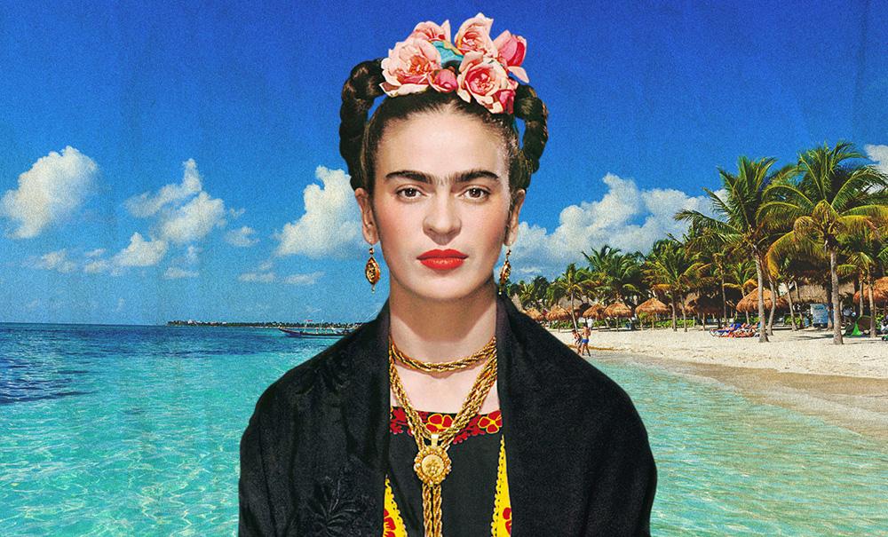 Frida Kahlo visita la Riviera Maya